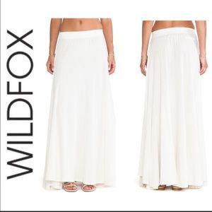 Wildfox Women's White / Ivory Maxi Circle Skirt.